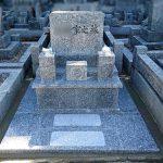 徳山石の墓石を移設+納骨室の新設をいたしました。周南市営大迫田墓地にて