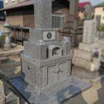 周南市のお寺様の墓地で、徳山石のお墓が完成しました。