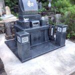 山口市徳地の地域墓地にて、素敵な洋型墓石への建て替えをさせていただきました。