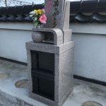 周南市の勝榮寺墓地にデザイン性のあるコンパクトな洋型のお墓が完成しました。