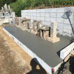 山口市徳地の墓地の改修工事が完了しました!